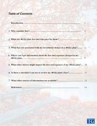 A Look at 401(k) Plan Fees vol 1 Pg.1